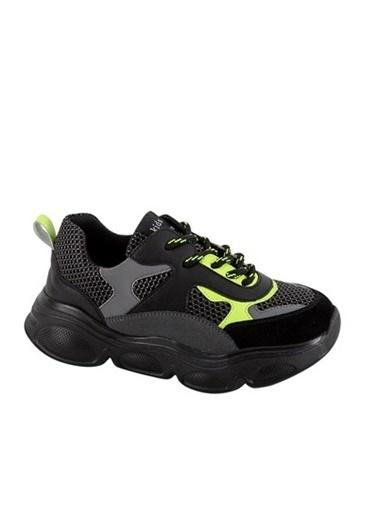 Kids A More Neo Bağcıklı Air File Detaylı Deri Erkek Çocuk Sneaker  Siyah